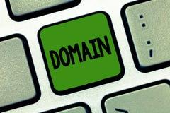 Słowa writing teksta domena Biznesowy pojęcie dla odrębnego podzbioru internet z adresami dzieli pospolitego przyrostek ilustracji