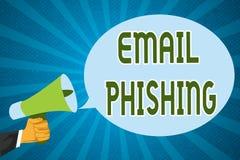 Słowa writing teksta email Phishing Biznesowy pojęcie dla emaili które mogą łączyć strony internetowe które zakłócają malware royalty ilustracja