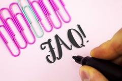 Słowa writing teksta Faq Motywacyjny wezwanie Biznesowy pojęcie dla Dobrowolnie pytać pytania dla rozjaśniać w górę zamieszań pis fotografia royalty free