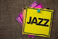 Słowa writing teksta jazz Biznesowy pojęcie dla typ muzyka czarnego Amerykańskiego początku Muzykalnego gatunku Silny rytm Tapetu Fotografia Royalty Free