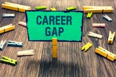 Słowa writing teksta kariera Gap Biznesowy pojęcie dla A sceny dokąd w tobie pracować twój zawodu Clothespin hol chwilowo zatrzym obrazy royalty free