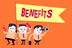 Słowa writing teksta korzyści Biznesowy pojęcie dla przewaga zysku zyskiwał od coś Płatniczego wynagrodzenie royalty ilustracja