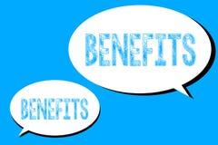 Słowa writing teksta korzyści Biznesowy pojęcie dla przewaga zysku zyskiwał od coś Płatniczego wynagrodzenie ilustracji