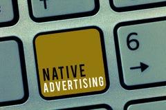 Słowa writing teksta miejscowego reklama Biznesowy pojęcie dla Online Opłaconych reklam Dopasowywa Formularzową funkcję Webpage zdjęcie stock
