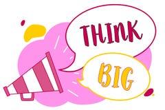 Słowa writing teksta myśl Duża Biznesowy pojęcie dla planować dla coś wysoką wartość dla ones dla przygotowanie megafonu głośnego royalty ilustracja