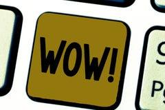 Słowa writing teksta no! no! Biznesowy pojęcie dla Rewelacyjnego sukcesu odciśnięcia i ekscytuje someone Ekspresowa admiracja fotografia stock