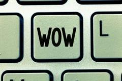 Słowa writing teksta no! no! Biznesowy pojęcie dla Wyrażać zdziwienia i respektu Historycznego sukces Ekscytuje someone ogromnie obraz royalty free