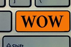 Słowa writing teksta no! no! Biznesowy pojęcie dla Wyrażać zdziwienia i respektu Historycznego sukces Ekscytuje someone ogromnie obrazy stock