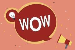 Słowa writing teksta no! no! Biznesowy pojęcie dla Wyrażać zdziwienia i respektu Historycznego sukces Ekscytuje someone ogromnie royalty ilustracja
