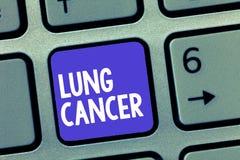 Słowa writing teksta nowotwór płuc Biznesowy pojęcie dla Niekontrolowanego przyrosta anormalne komórki które zaczynają w płucach zdjęcia royalty free