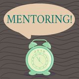 Słowa writing teksta obowiązki mentora Biznesowy pojęcie dla dawać rada lub poparciu młody mniej doświadczony demonstrować royalty ilustracja