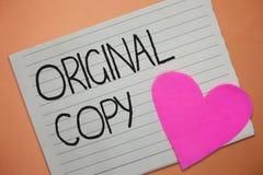 Słowa writing teksta oryginału kopia Biznesowy pojęcie dla Głównego pisma Niewydrukowanej Oznakującej Patentowanej Mistrzowskiej  obraz royalty free