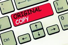 Słowa writing teksta oryginału kopia Biznesowy pojęcie dla Głównego pisma Niewydrukowanej Oznakującej Patentowanej Mistrzowskiej  zdjęcia royalty free