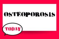 Słowa writing teksta Osteoporosis Biznesowy pojęcie dla stanu medycznego w którym kości zostać chrupliwymi i kruchymi ilustracja wektor