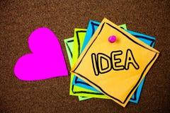 Słowa writing teksta pomysł Biznesowy pojęcie dla Kreatywnie Nowatorskiego Myślącego wyobraźnia projekta rozwiązań pomysłów wiado obrazy stock