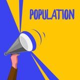 Słowa writing teksta populacja Biznesowy pojęcie dla Wszystkie mieszkanów miejsca gęstości szczególni ludzie royalty ilustracja