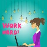 Słowa writing teksta praca Mocno Biznesowy pojęcie dla someone który stawia wysiłek w robić i uzupełniać daje zadanie fotografię ilustracji