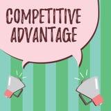 Słowa writing teksta przewaga konkurencyjna Biznesowy pojęcie dla firmy krawędzi nad inną Korzystnie Biznesową pozycją ilustracja wektor