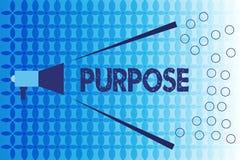 Słowa writing teksta Purpose Biznesowy pojęcie dla powodu dla robić coś Pragnący Bramkowy cel Planował osiągnięcie ilustracja wektor