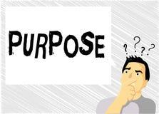 Słowa writing teksta Purpose Biznesowy pojęcie dla powodu dla robić coś Pragnący Bramkowy cel Planował osiągnięcie ilustracji