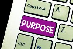Słowa writing teksta Purpose Biznesowy pojęcie dla powodu dla robić coś Pragnący Bramkowy cel Planował osiągnięcie fotografia royalty free