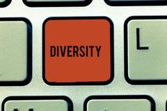 Słowa writing teksta różnorodność Biznesowy pojęcie dla stanu być różnorodnego pasma rzeczy zbieraniny różnym miksturą ilustracja wektor