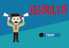 Słowa writing teksta rezultaty Biznesowy pojęcie dla konsekwencja wyników produkujących coś osiągnięcie rozwój ilustracji