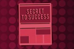 Słowa writing teksta sekret sukces Biznesowy pojęcie dla Niewytłumaczonego doścignięcia sława status społeczny lub bogactwo royalty ilustracja
