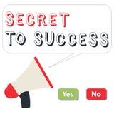 Słowa writing teksta sekret sukces Biznesowy pojęcie dla Niewytłumaczonego doścignięcia sława status społeczny lub bogactwo ilustracji