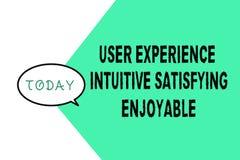 Słowa writing teksta użytkownika doświadczenia Intuicyjnie Zadowalający Przyjemny Biznesowy pojęcie dla klient informacje zwrotne ilustracji