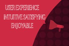 Słowa writing teksta użytkownika doświadczenia Intuicyjnie Zadowalający Przyjemny Biznesowy pojęcie dla klient informacje zwrotne ilustracja wektor