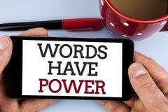 Słowa writing teksta słowa władzę Biznesowy pojęcie dla oświadczeń pojemność zmieniać twój rzeczywistość pisać na Mo ty mówisz obraz royalty free