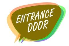 Słowa writing teksta Wejściowy drzwi Biznesowy pojęcie dla sposobu w drzwi bramy ingresu Hasłowego Przybywającego przejścia mowy  ilustracja wektor