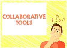 Słowa writing teksta Współpracujący narzędzia Biznesowy pojęcie dla Intymnej Ogólnospołecznej sieci Łączyć przez Online emaila ilustracja wektor