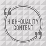 Słowa writing teksta Wysokiej Jakości zawartość Biznesowy pojęcie dla strony internetowej jest Pożytecznie Pouczający Angażować w ilustracja wektor