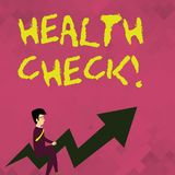 Słowa writing teksta zdrowie czek Biznesowy pojęcie dla egzaminu ustalać cierpienie czy od demonstrujący ilustracji