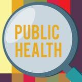 Słowa writing teksta zdrowie publiczne Biznesowy pojęcie dla Promować zdrowych style życia społeczność i swój seans ilustracja wektor