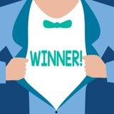 Słowa writing teksta zwycięzca Biznesowy pojęcie dla osoby lub rzeczy która wygrywają coś Bramkowy dosięgający osiągnięcie ilustracja wektor