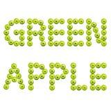 Słowa zielony jabłko obraz stock