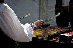 SŁOWACKA LUDOWA ręki muzyka Fotografia Stock