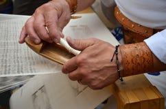 SŁOWACKI LUDOWY ręki tkactwa rzemiosło Zdjęcia Royalty Free