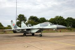 Słowacki siły powietrzne MiG-29 Fulcrum myśliwa samolot Fotografia Royalty Free