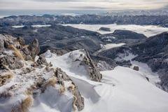 Słoweńscy zim Alps obraz stock
