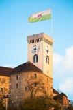 Słowenia Lublanę zamek Zdjęcie Stock
