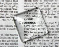 Słownik definicja sukces obrazy royalty free