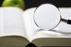 Słownik i powiększać - szkło Fotografia Stock
