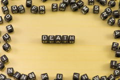 Słowo śmierć royalty ilustracja