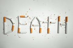 Słowo śmierć, robić papierosy royalty ilustracja