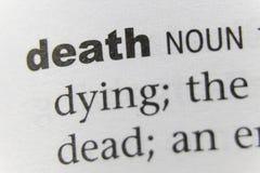 Słowo śmierci zakończenie Up obrazy stock