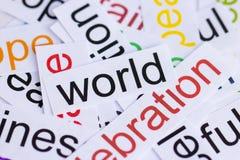 Słowo świat Zdjęcie Stock